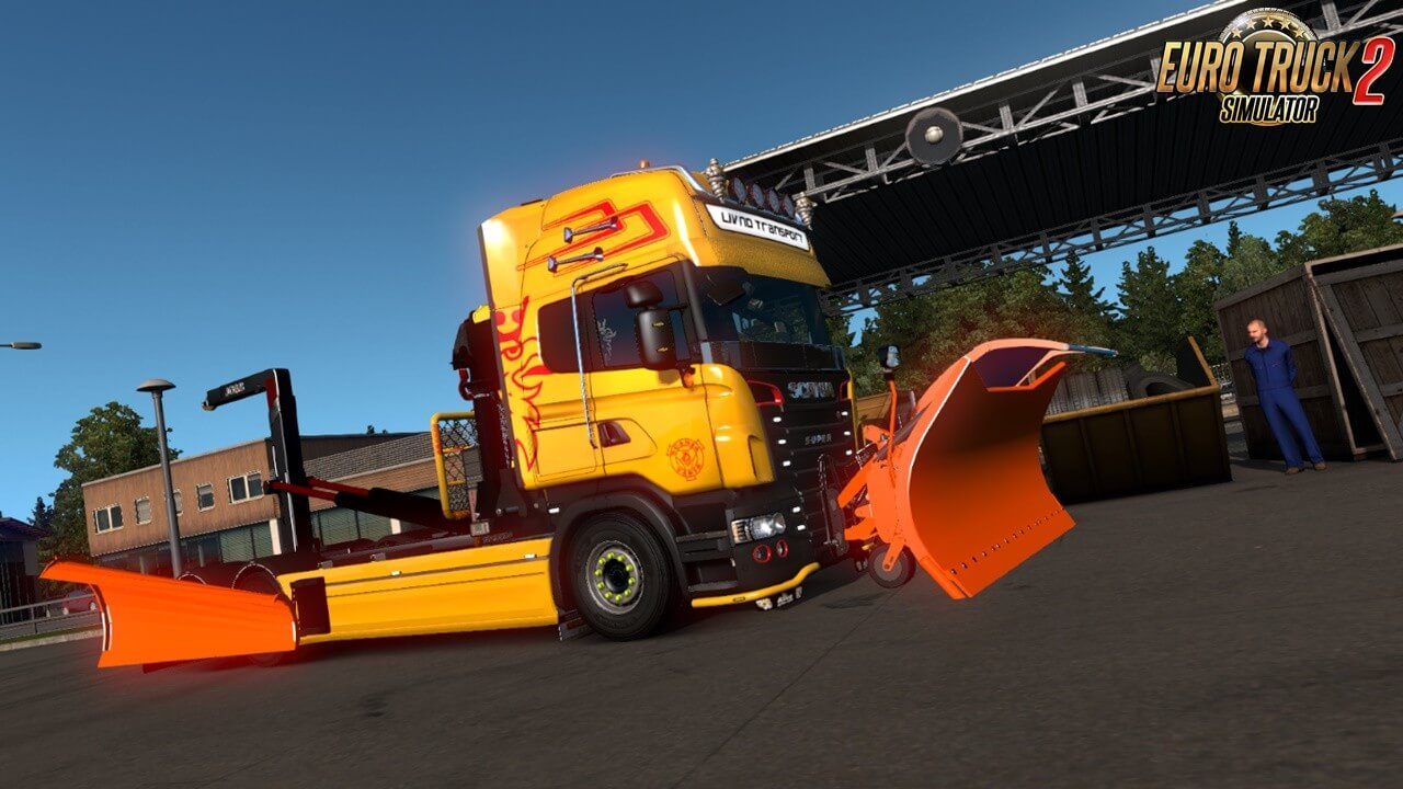 Snow Plow for Ets2 by Teklic