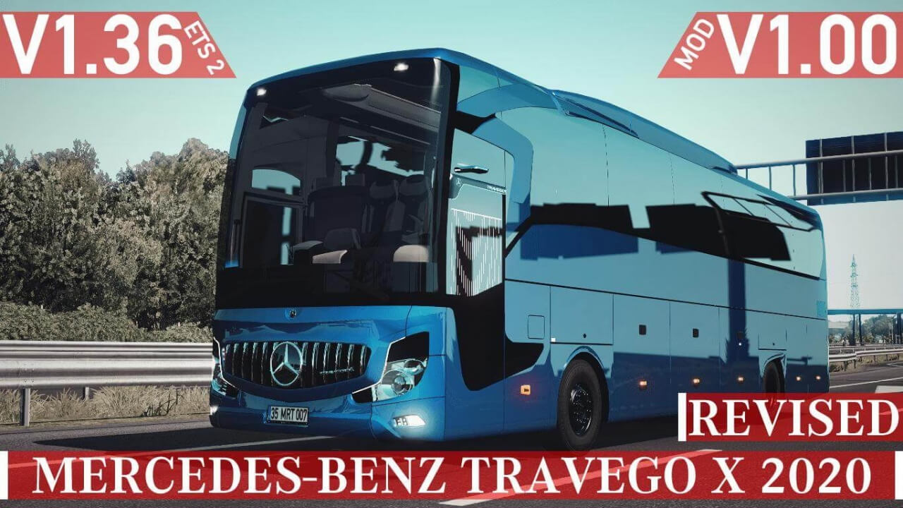 Bus Mercedes-Benz Travego X 2020 v2.0 (1.37.x)
