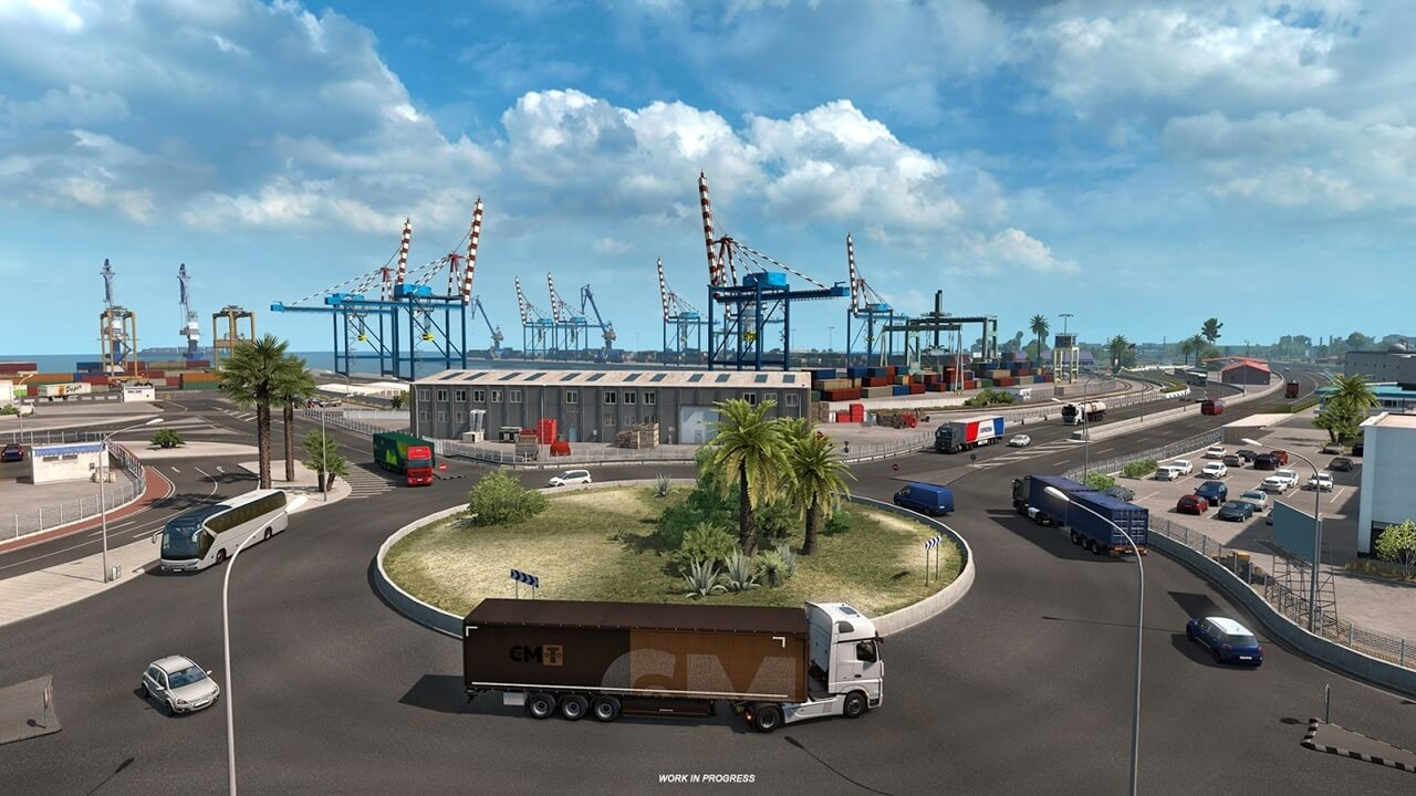 Ports of Iberia DLC for ETS 2