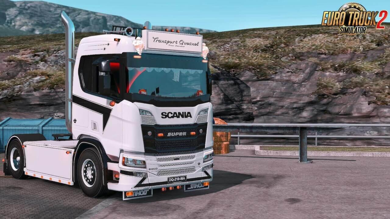 Scania R850 Black and White Skin v1.0 (1.37.x)