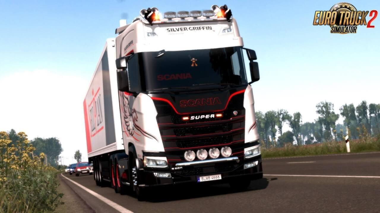 Red & Dark Interior for Scania Nextgen S and R v1.0 (1.37.x)