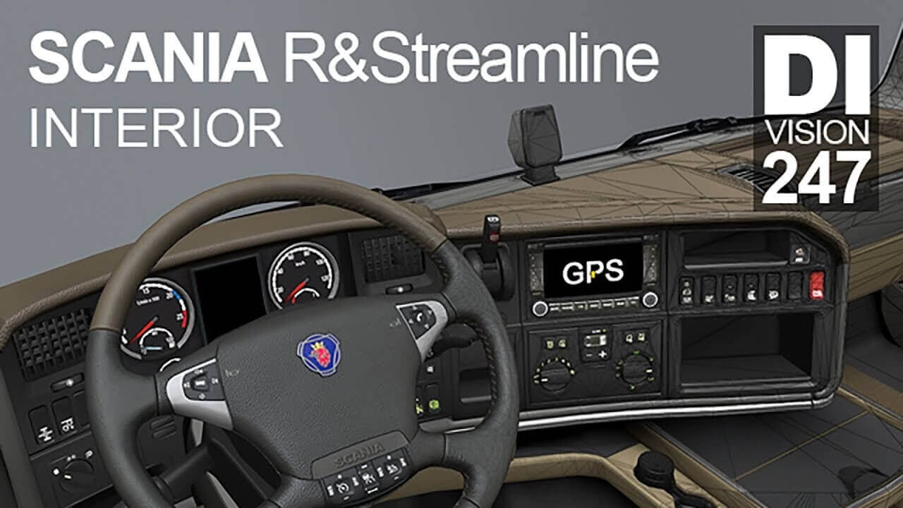 Interior for Scania R & Streamline 2009 v1.0 by Dm247 (1.37.x)