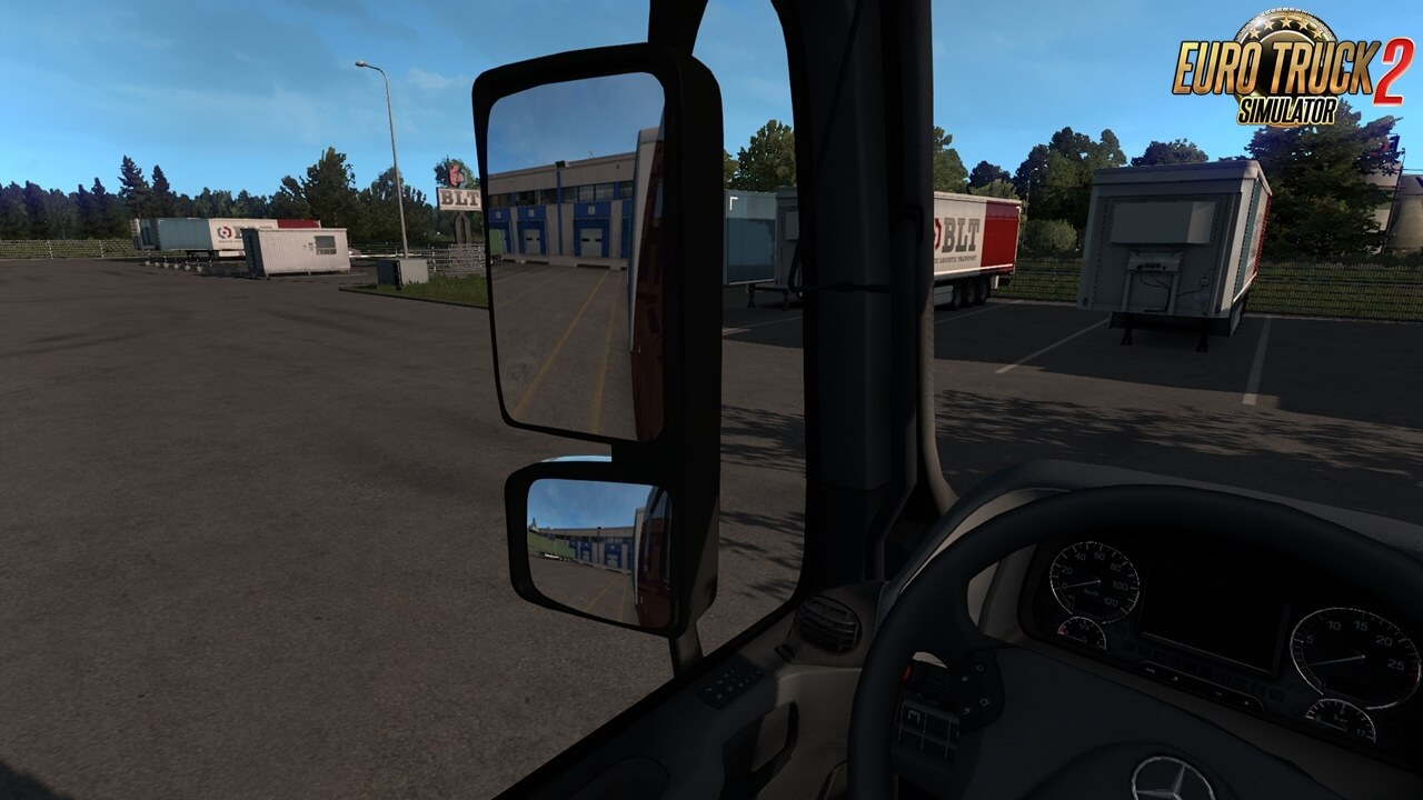 New Actros MP3 Mirrors v1.0 by Dotec