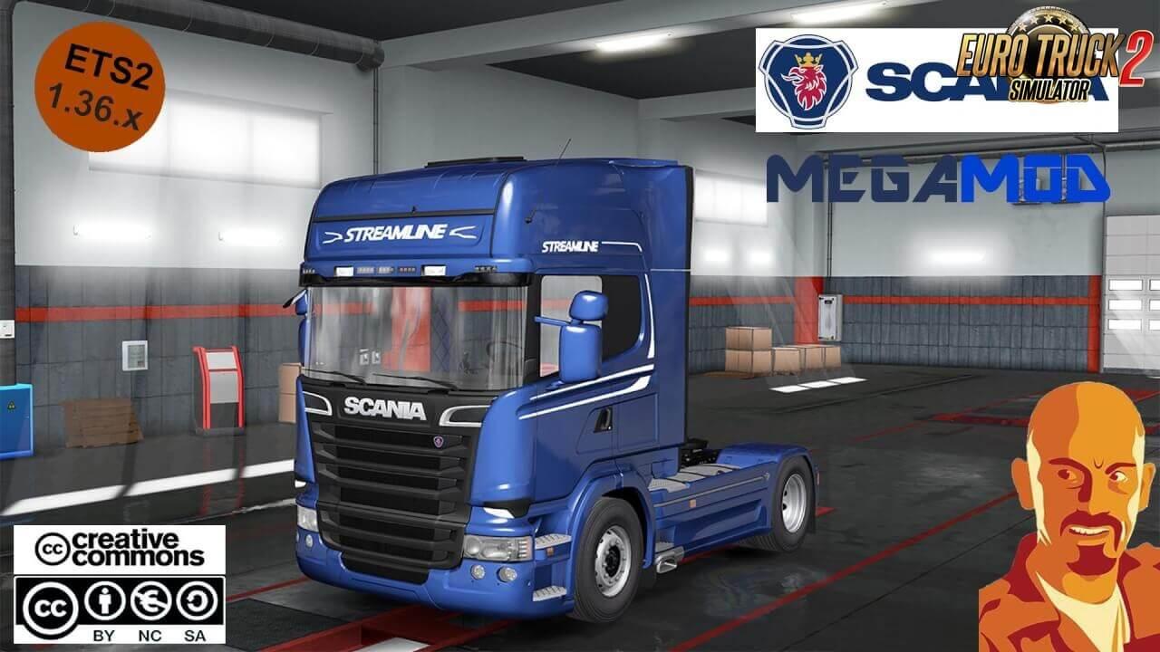 Scania Megamod Reworked + Trailers v1.1 (1.39.x)