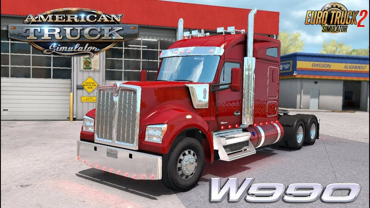 Kenworth W990 v1.2.3 Edited by Harven (1.38.x) for ETS2