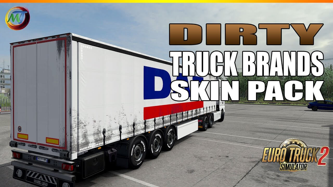 Dirty Trucks Brand Skins for Trailers v1.1 (1.37.x)