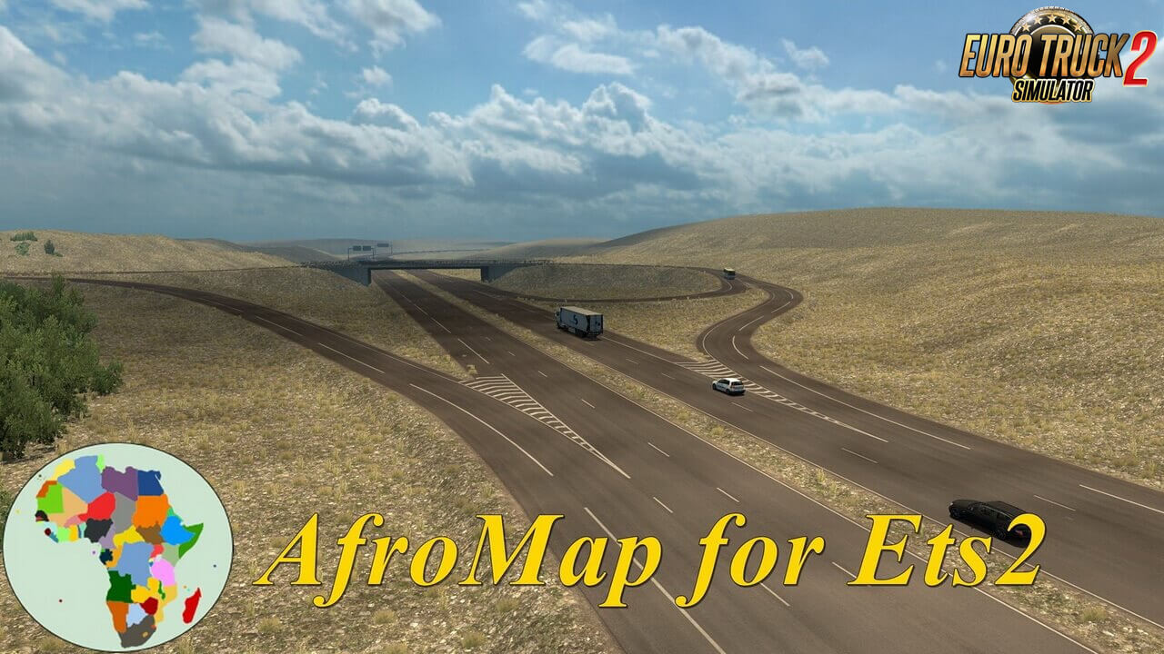 AfroMap v2.1 (1.37.x) by diman26 for ETS2