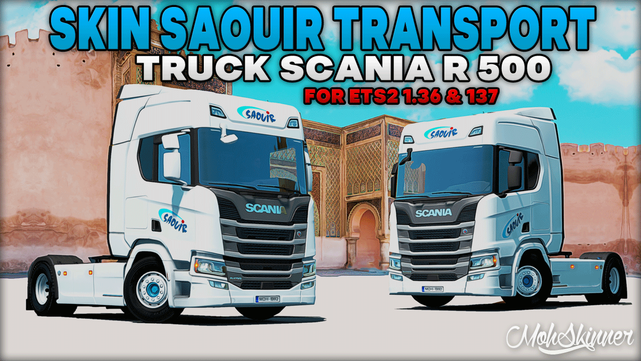 Company Transport Saouir Skin for Scania R500 v1.0 (1.37.x)