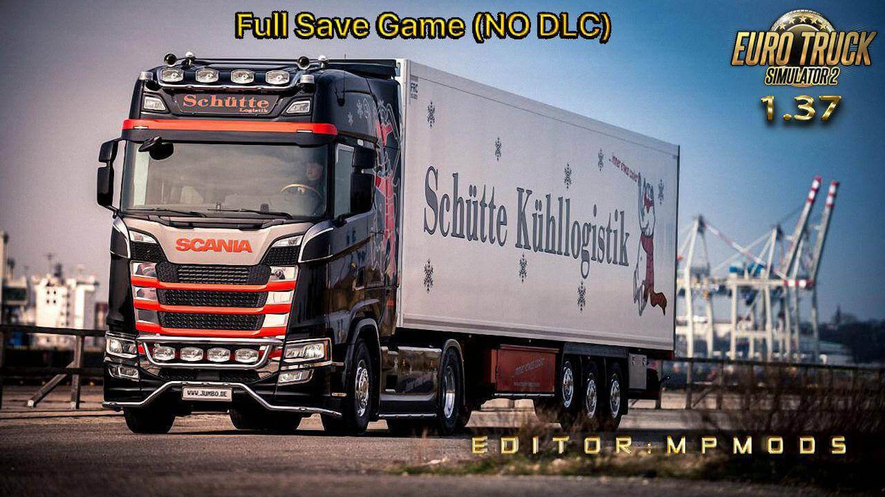 Full ETS2 Save Game v1.0 by MpMods (1.37.x)