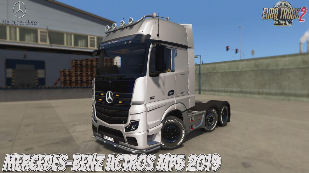 Mercedes-Benz Actros MP5 2019 + Interior v1.0 (1.37.x)