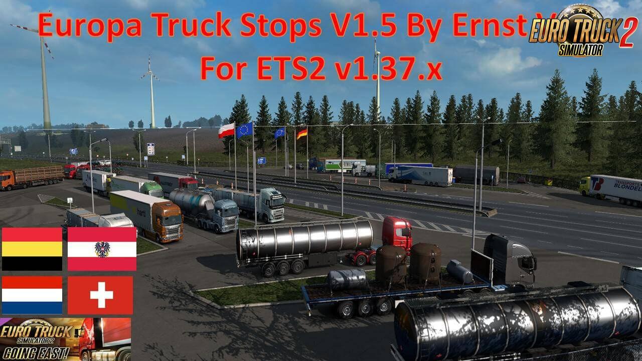Europa Truck Stops v1.50 By Ernst Veliz (1.37.x)