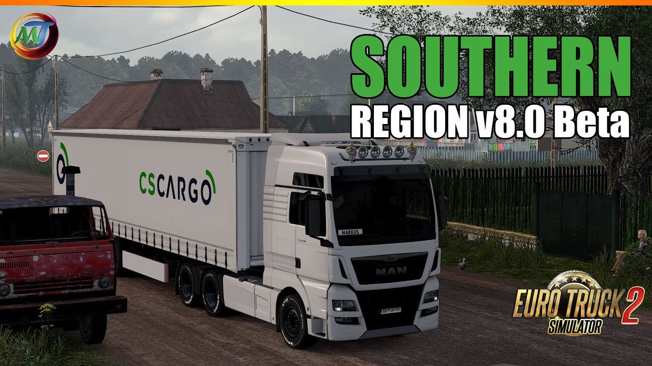 South Region Map v8.0 - Euro Truck Simulator 2