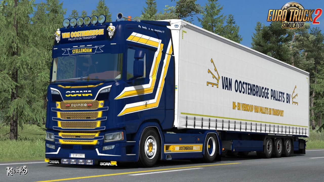 Scania S NextGen Van Oostenbrugge Combo Skin Pack v1.0 (1.37.x)