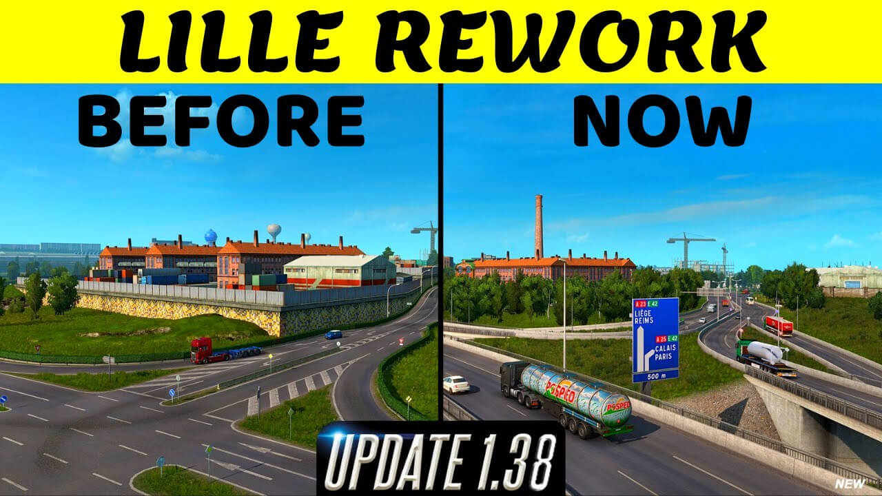 ETS2 Update 1.38 - Lille city Reworked