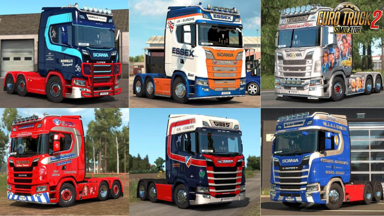 Skin Pack for Scania Next Gen (UK Companies) v1.0 (1.38.x)