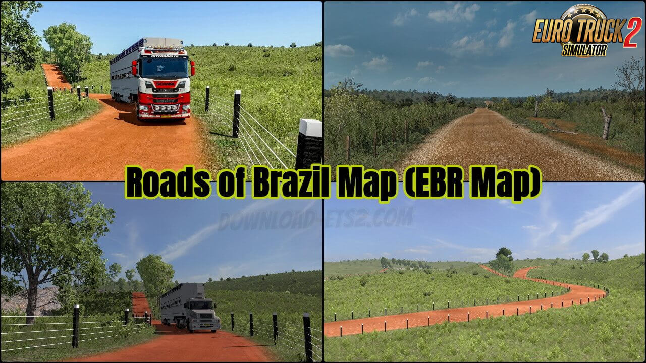 Roads of Brazil Map (EBR Map) v1.73 (1.37.x)