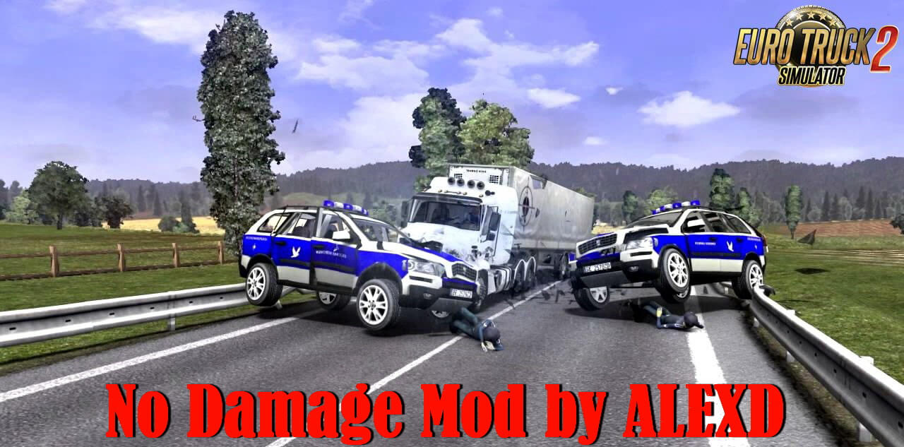 No Damage Mod v3.0 by ALEXD (1.38.x) for ETS2