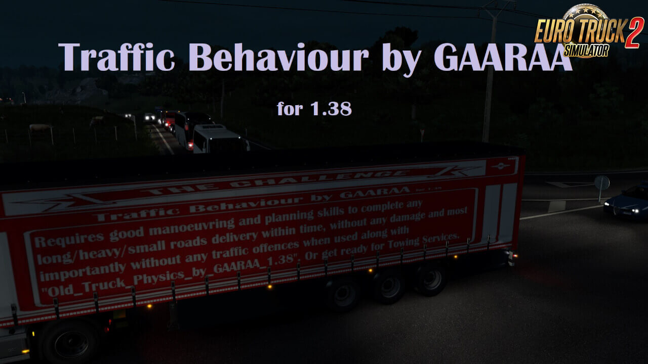 Traffic Behaviour v1.0 by GAARAA (1.38.x) for ETS2