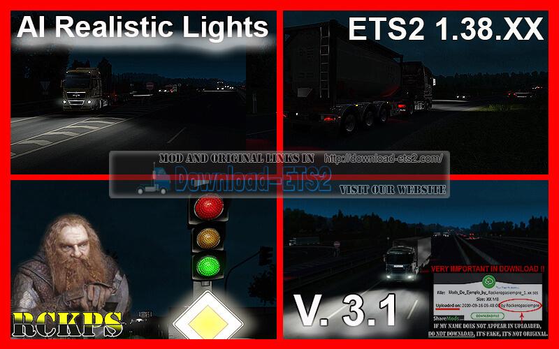 AI Realistic Lights v3.1 for ETS2 (1.38.x)