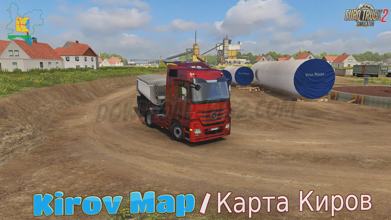 Kirov Map v4.0 by kakoito (1.38.x) for ETS2